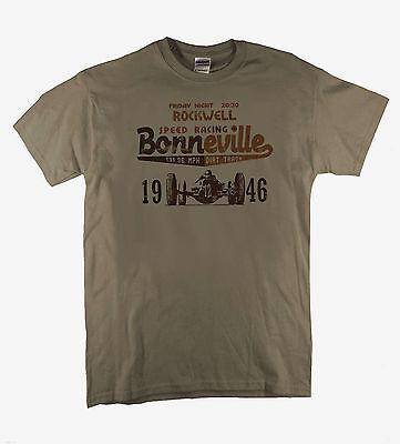 Bonneville /'59 Utah Salt Flats Biker Vintage Motorbike Speed Natural T-shirt
