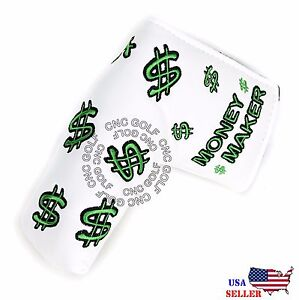 Money-Maker-White-Putter-Cover-Headcover-For-Scotty-Cameron-Taylormade-Odyssey