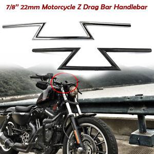 Universel-Moto-Racing-Street-Bike-7-8-039-039-22mm-Drag-Guidon-Poignee-Z-Bars-Bobber