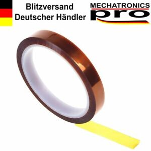 10mm-x-33m-Hitzebestaendiges-Klebeband-Polyimid-Tape-fuer-3D-Drucker