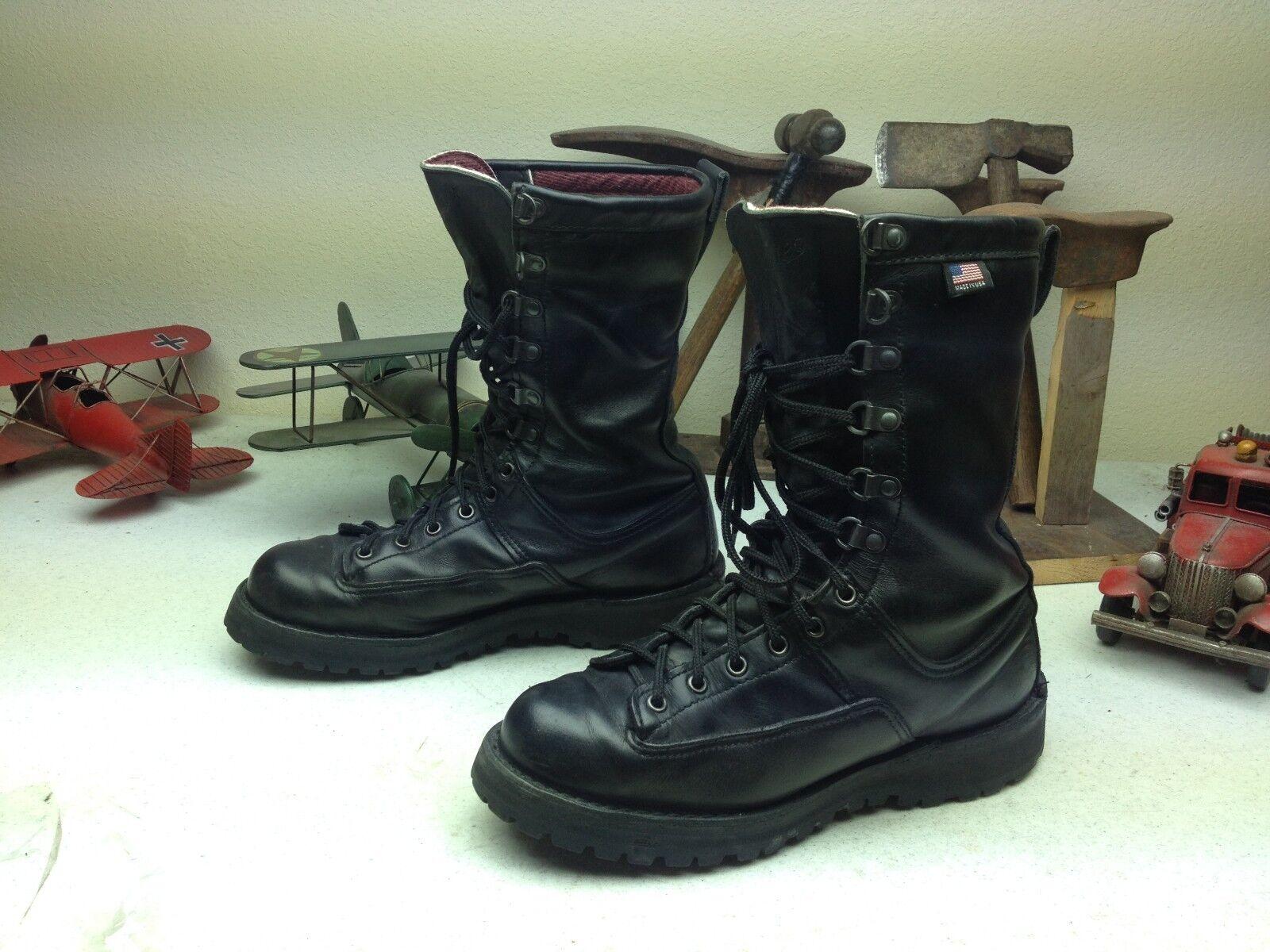 Vintage DANNER FORT LEWIS negro envejecido ingeniero jefe Trail botas D