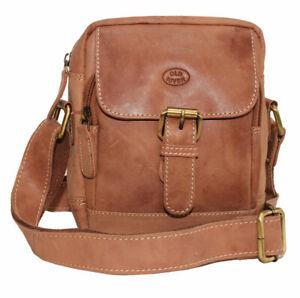 Herren-Leder-Tasche-Schultertasche-Handtasche-Flugumhaenger-Umhaengetasche-Reise