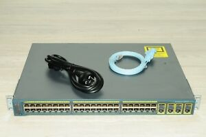 Cisco-WS-C2960G-48TC-L-48-Port-Latest-IOS-Gigabit-Switch-4-SFP-Ports-w-Racks
