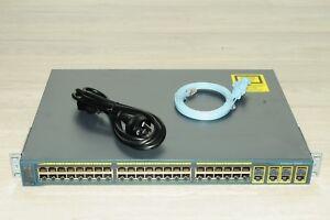Cisco WS-C2960G-48TC-L 48 Port Latest IOS Gigabit Switch, 4 SFP Ports w/ Racks