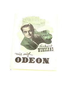 Stetig Gerhard Wendlang Platten Katalog Auf Odeon Katalog Top Zustand!! Periodika & Kataloge Kataloge k134