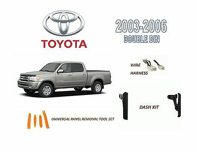 2003-2006 TOYOTA TUNDRA DASH INSTALL KIT for CAR STEREO, with WIRE HARNESS  | eBayeBay