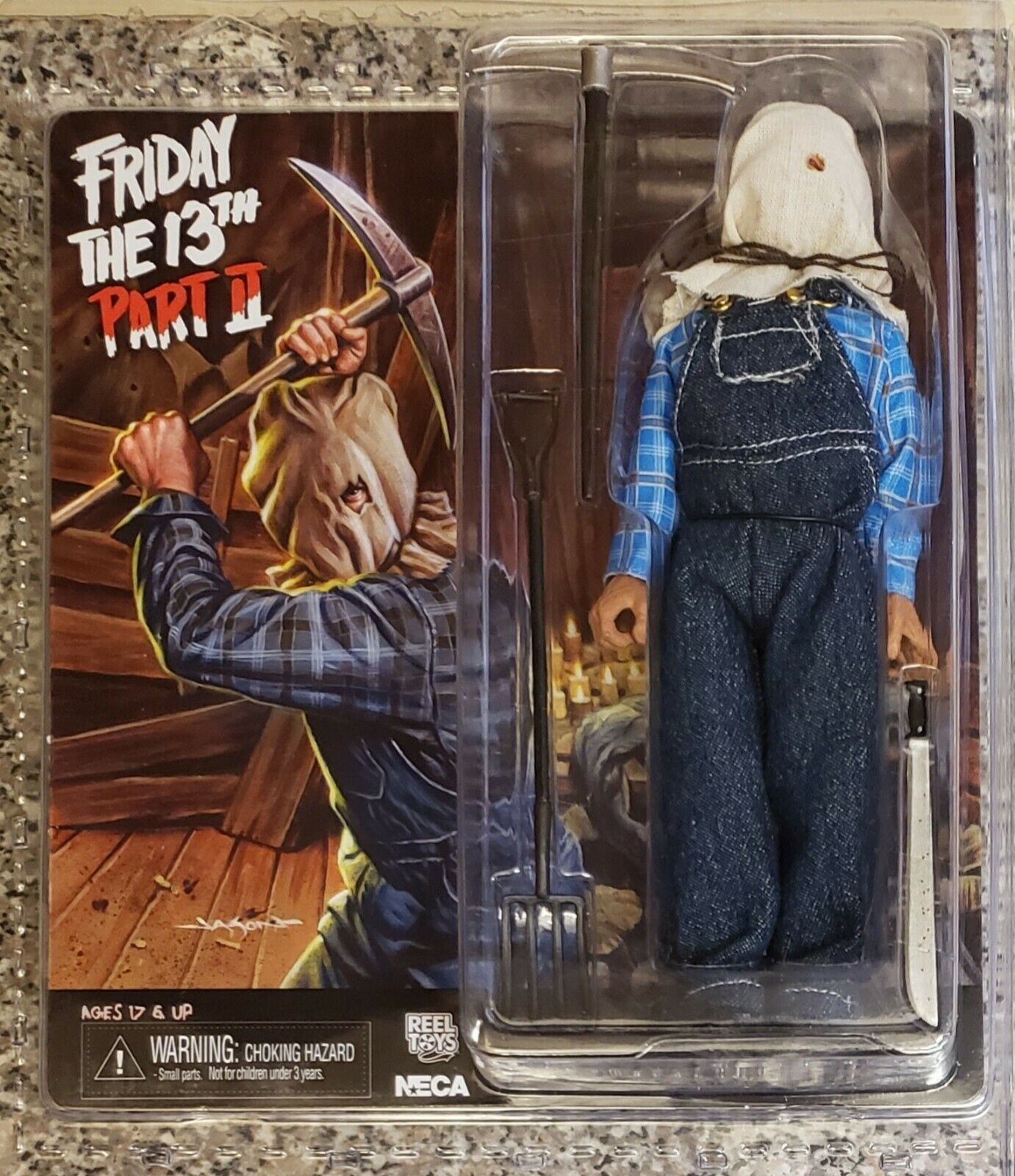 NECA FRIDAY THE 13TH PART 2, JASON - RETRO CLOTHED FIGURE (NEW AND VERY RARE)