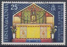 Tristan da Cunha 1973 fine used Mi.180 Marienkirche Church Altar [sq7232]