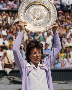 1973 Tennis BILLIE JEAN KING Glossy 8x10 Photo Wimbledon Rosewater ... ba9091a54a5