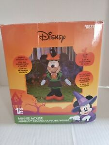 Disney-Minnie-Mouse-Witch-Halloween-Air-Blown-Inflatable-3-5-Foot-Tall-Gemmy