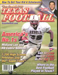 2000-Dave-Campbell-039-s-Texas-Football-Magazine-Cedric-Benson-Midland-Lee-HS