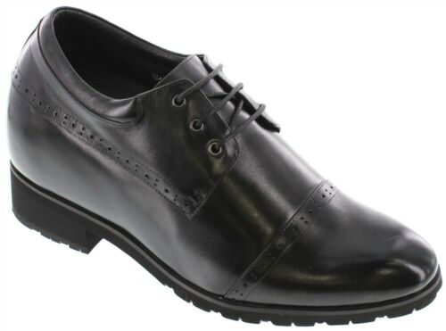 TOTO H46011-4 Inches Elevator Height Increase Black Leather Dress Shoe