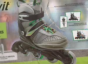 Kinder Inliner Inlineskates Softboot Skates  verstellbar Inliner Gr 29-33 Inlineskating