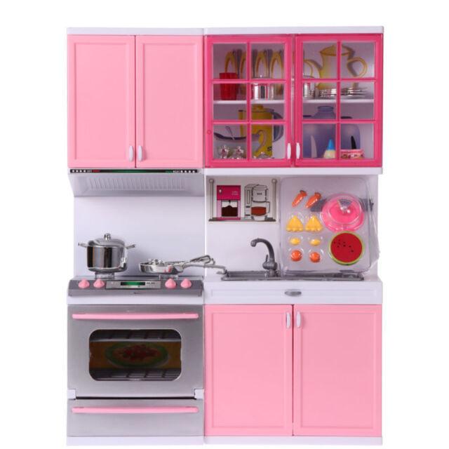 kids kitchen toys girls role play pretend set toy pink creative childrens gift - Kids Kitchen