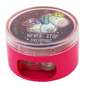 Lineal 15 cm zur Auswahl Never Stop Dreaming Unicorn Einhorn Doppel Anspitzer