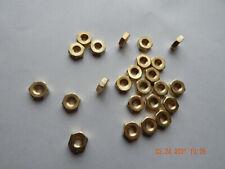Brass Hex Nuts 1224 25 Pcs New