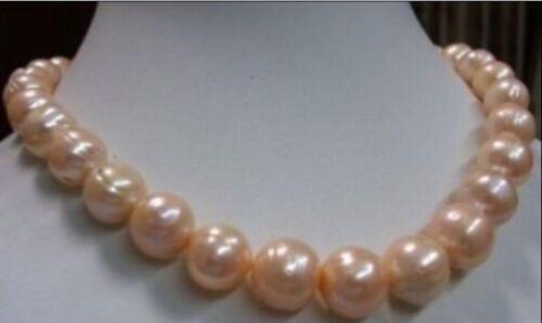 Véritable Best 10-11 mm rose des Mers Du Sud Perle Baroque collier 18 In environ 45.72 cm