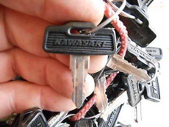 Vintage Kawasaki OEM Factory Pre Cut Motorcycle Key # 187