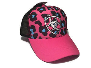 Image is loading Ariat-Womens-Hat-Baseball-Hat-Leopard-Pink-1544230 529cc5099390