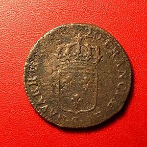 1503-RARE-Louis-XV-Sol-au-buste-enfantin-1720-S-Troyes-RARE-FACTURE