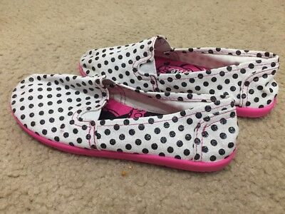 10 NEW DISNEP MINNIE MOUSE MICKEY PINK POLKA DOT SLIPPERS SHOES FLATS SIZE 9