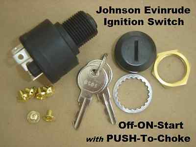 Boat Push To Choke Ignition Switch Evinrude Johnson 393301