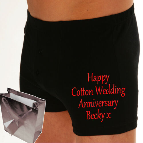 EMBROIDERED Boxer shorts PERSONALISED Wedding Groom Gift Valentine gift for men
