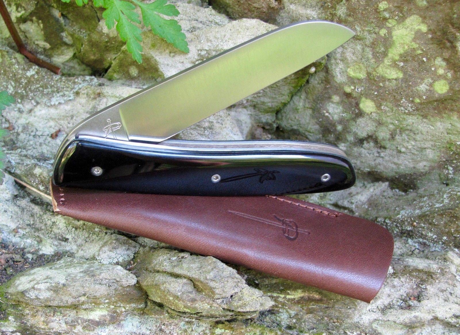 Messer Vespermesser Perceval L08 Widderhorn Dunkel 19C27 Sandvik Vespermesser Messer Brotzeitmesser 1be4f2