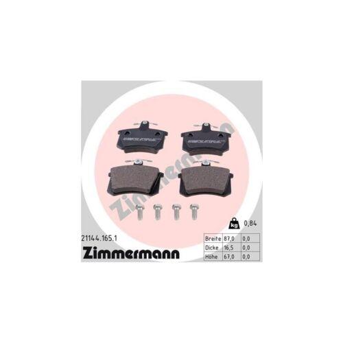 balatas atrás audi 100 200 a8 Zimmermann discos de freno 269mm