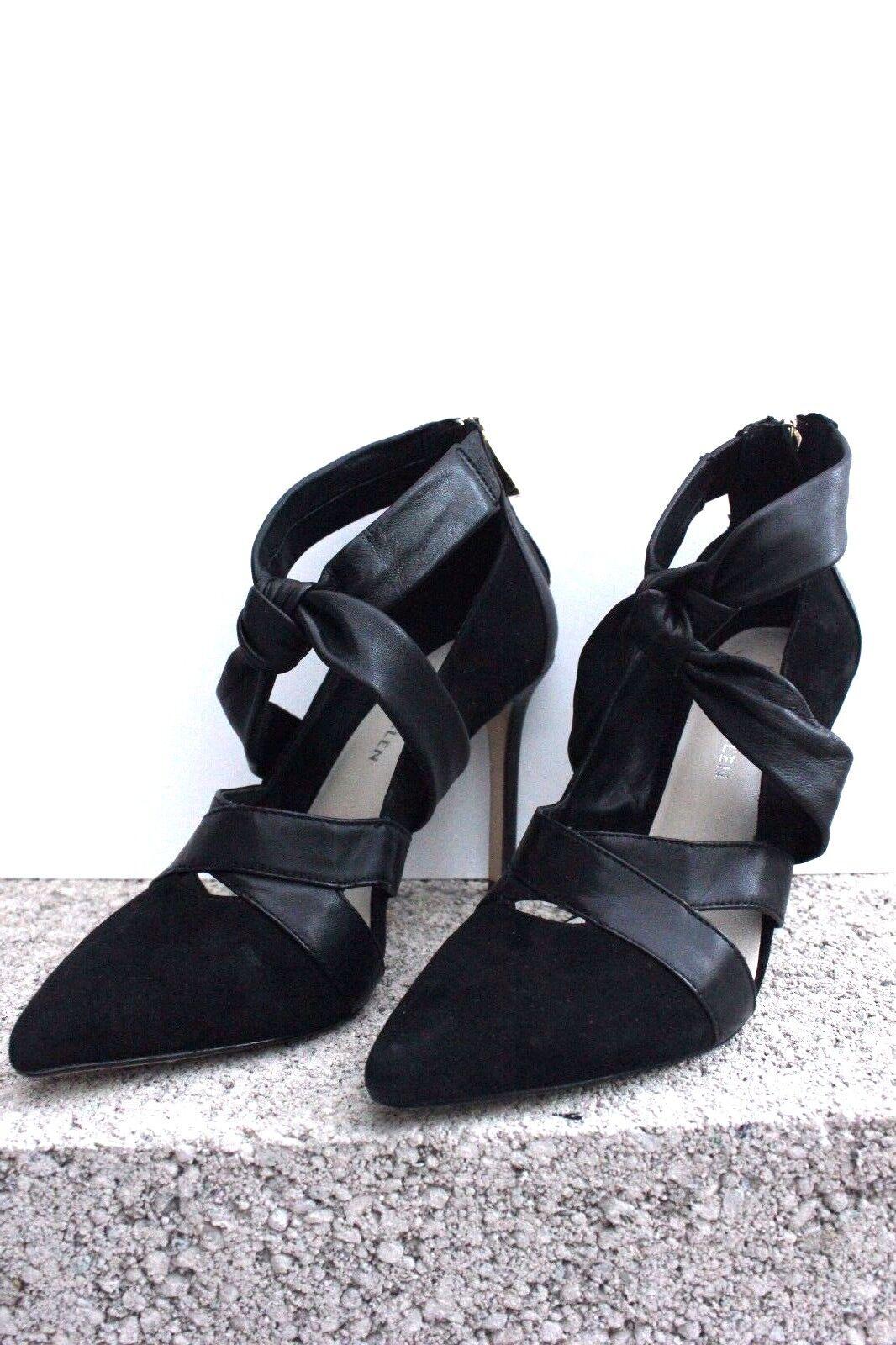 Karen Millen FZ105 Schuhes Leder Suede Heeled Pumps Schuhes FZ105 Stiletto Dress Courts 4 - 8 b930be