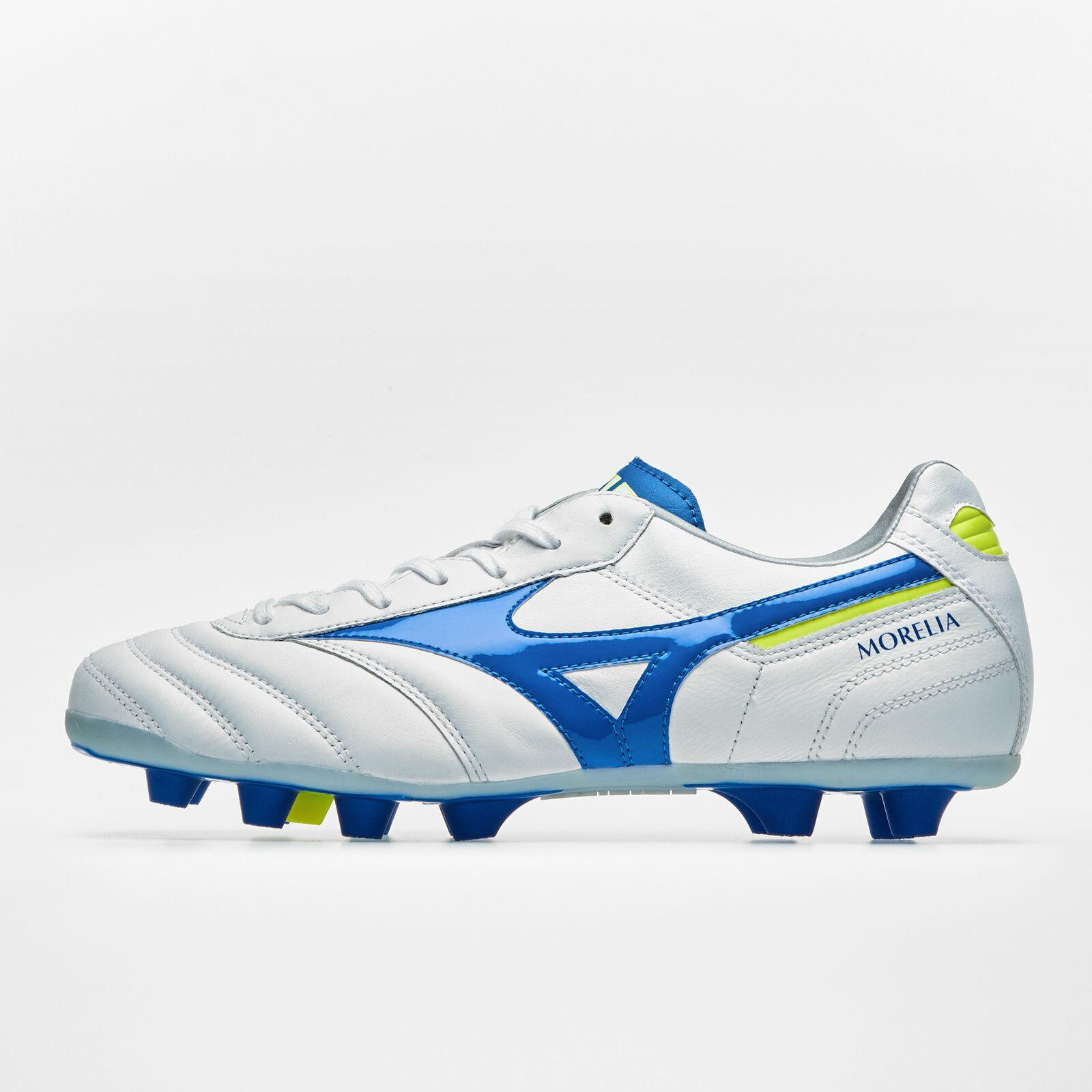 Para hombre Mizuno Morelia Md Ii Fg botas De Fútbol Tacos Zapatillas Zapatos Deportivos blancoo