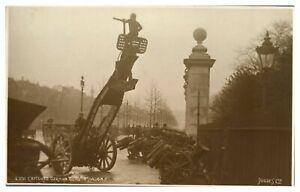 Antique-military-WW1-RPPC-postcard-Captured-German-Guns-In-London