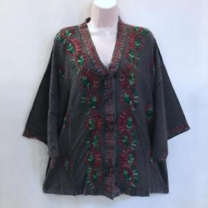 960dc15fa7 Image is loading Bust-50-Hippie-Bohemian-Oversized-Festival-Gypsy- Embroidered-