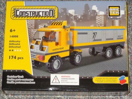 Container Truck BricTek Building Block Construction Toy Brick Tractor Trailer