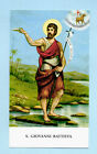 SANTINO SAN GIOVANNI BATTISTA IMAGE PIEUSE - HOLY CARD SANTINI