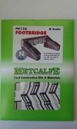 Metcalfe PN136 Fußgängerbrücke n Karte Set