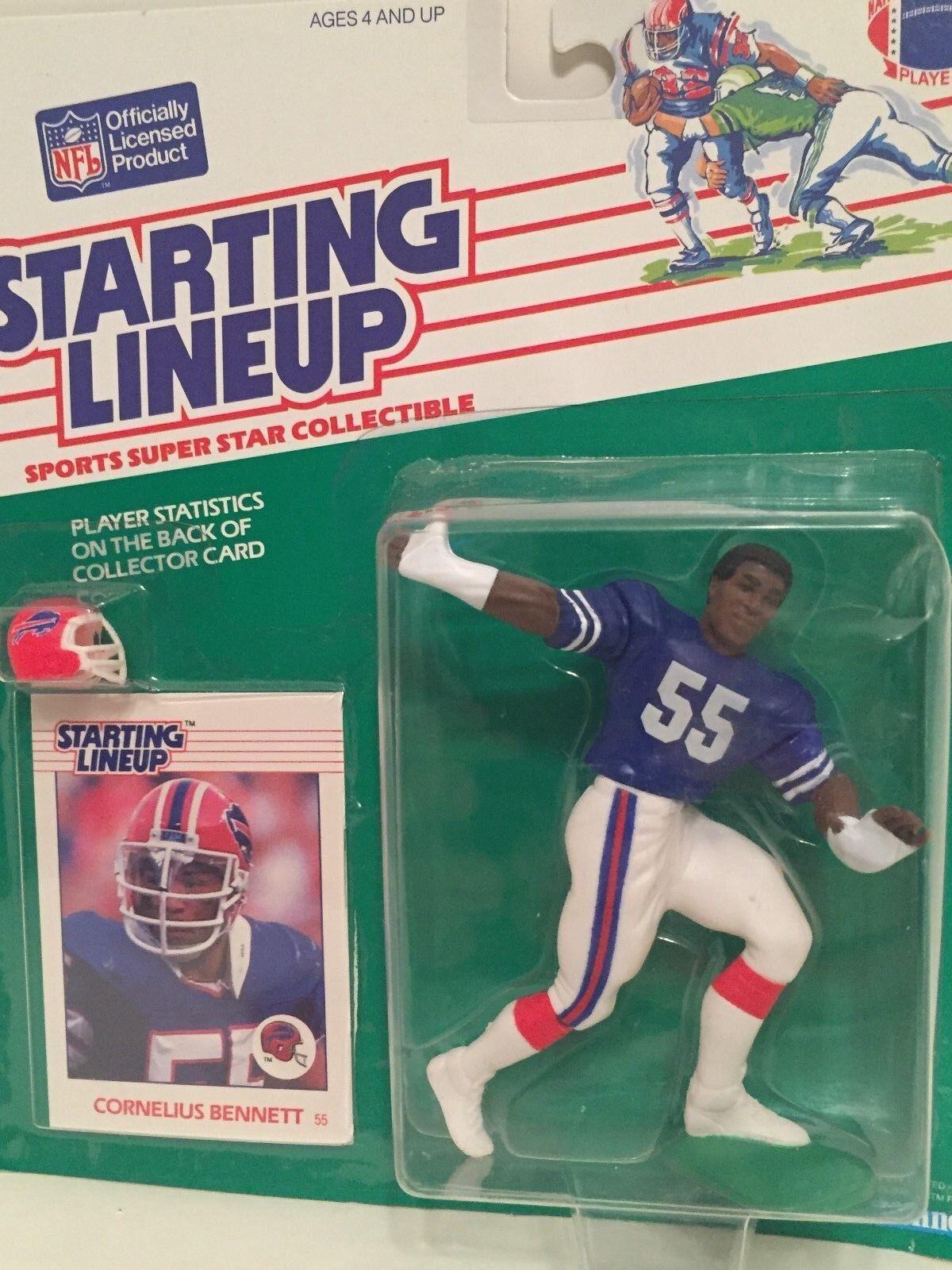 1988 Starting Lineup Cornelius Bennett Figure Carte Buffalo Bills Jouet Alabama Slu