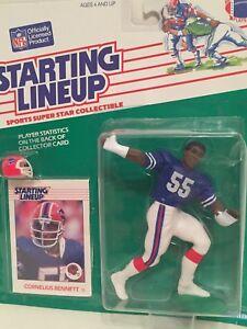 Alabama Starting Lineup >> 1988 Starting Lineup Cornelius Bennett Figure Card Buffalo Bills Toy