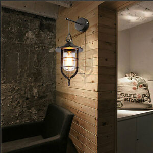 Industrial-Loft-Retro-Wall-Lamps-Vintage-Metal-Wall-Fixtures-Sconce-Cage-Lights