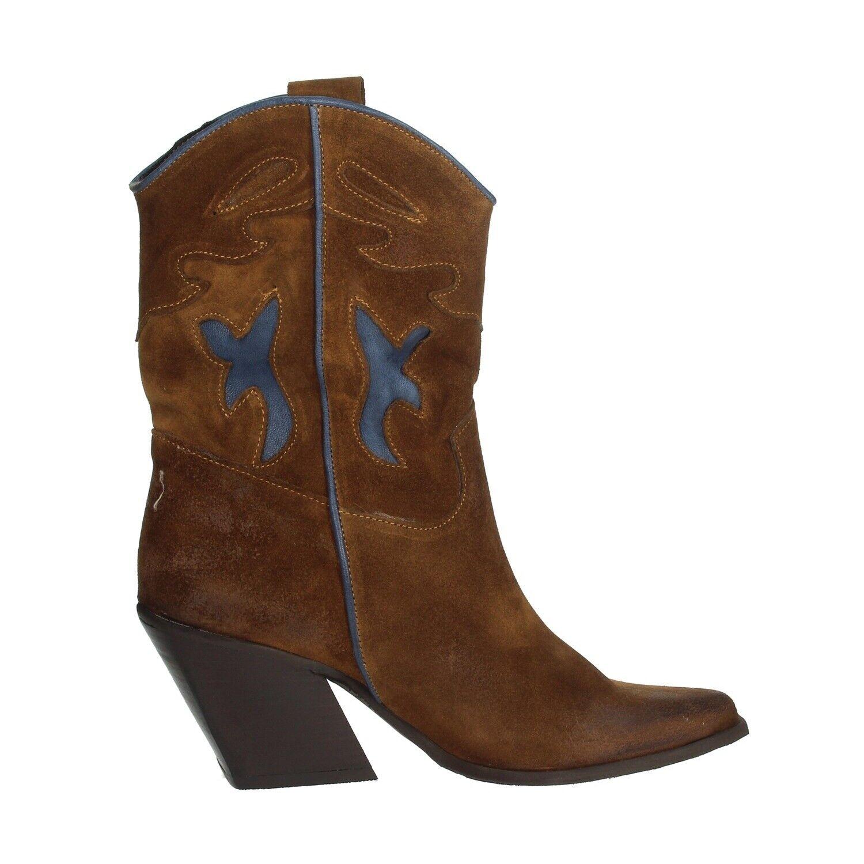 Stiefeletten Stiefel Camperos Frau Hoch Texaner aus Wildleder Country von Cowboy
