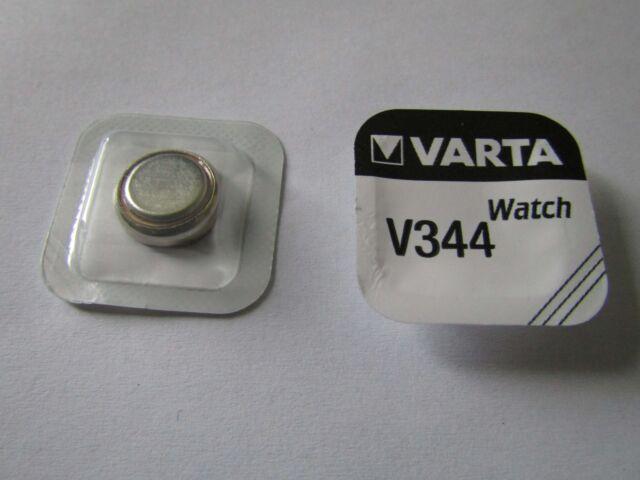 1x V344 Silber-Oxid Uhrenknopfzelle 1,55V SR42 Varta