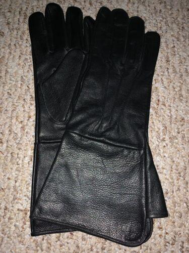 Black leather Medieval gloves size X-Large