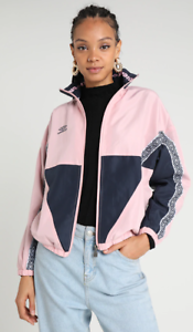 UMBRO PROJECTS Shell Jacket Ladies Blush Pink Blue Night Large #REF126