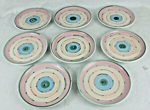 Lot-8-Vintage-Caleca-Cabana-Hand-Panted-signed-Italian-Ceramic-8-034-Salad-Plates