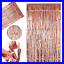 35Pc ROSE GOLD Party Decoration Set Table Runner Foil Curtain Confetti Ribbon /&