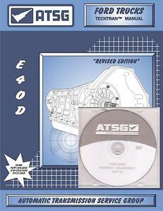atsg ford e4od transmisson training dvd video rebuild manual combo rh ebay com