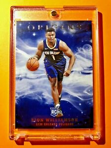 Zion-Williamson-VERY-RARE-PANINI-ORIGINS-HOT-ROOKIE-CARD-2019-20-RC-15-Mint