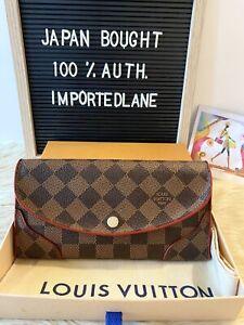 LIKENEW 100% Auth Louis Vuitton Damier Portefeuille Kaisa 4CC Long Bifold Wallet