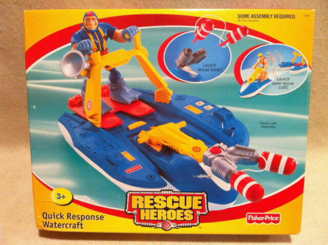 Fisher Rescue Heroes Quick Response Watercraft Factory 1998 For Sale Online Ebay