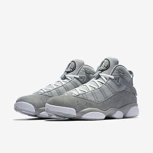 Men s Air Jordan 6 Rings Retro Silver Grey-Blk-Wht NIB Size 8-12 ... 4837b152d
